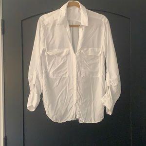 White Zara button down